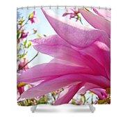 Pink Magnolia Flower Art Print Botanical Tree Baslee Troutman Shower Curtain