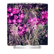 Pink Majestic Garden- Art By Linda Woods Shower Curtain