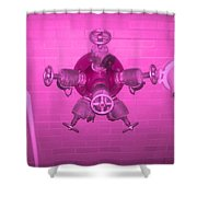Pink Male Pipe Shower Curtain