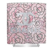 Pink Marble Chanel Shower Curtain
