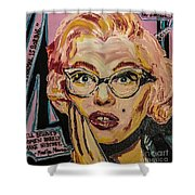 Pink Mary Shower Curtain