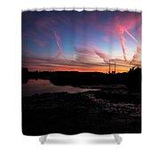 Pink Matter Shower Curtain