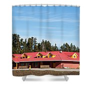 Pink Mountain British Columbia Shower Curtain