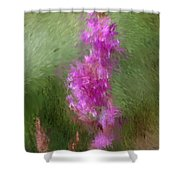 Pink Nature Abstract Shower Curtain