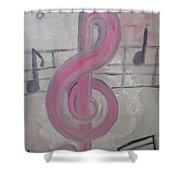 Pink Music Shower Curtain