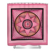 Pink Om Thing Shower Curtain