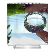 Pink On The Lake Shower Curtain