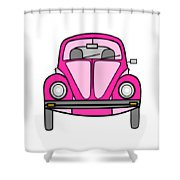 Pink On Wheels Shower Curtain