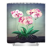 Pink Orchids 2 Shower Curtain