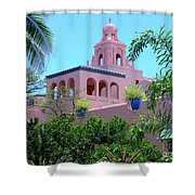 Pink Palace Honolulu Shower Curtain