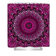 Pink Passion No. 7 Mandala Shower Curtain
