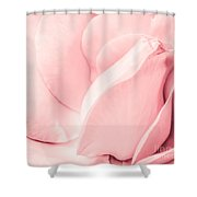 Pink Pastel Petals. Shower Curtain