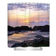 Pink Pastel Sunset Shower Curtain
