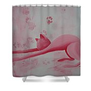 Pink Pause Shower Curtain