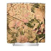 Pink Peonies - Kimono Series Shower Curtain