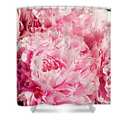 Pink Peony Bouquet Shower Curtain