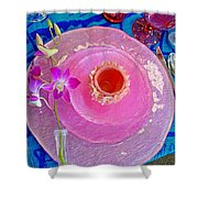 Pink Place Setting Shower Curtain