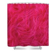 Pink Plush Fabric Shower Curtain