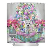 Pink Poinsettias Shower Curtain