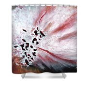 Pink Pollinator Shower Curtain