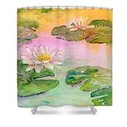 Pink Pond Shower Curtain