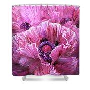Pink Poppy Splash Shower Curtain