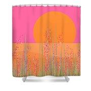 Pink Prairie Flowers Shower Curtain