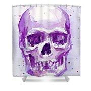 Pink Purple Skull Shower Curtain
