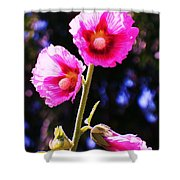 Pink Red Flower Shower Curtain