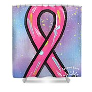 Pink Ribbon Shower Curtain