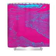 Pink River Shower Curtain