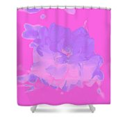 Pink Rose Abstract Shower Curtain