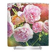 Pink Rose Artwork Shower Curtain