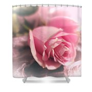 Pink Rose Macro Abstract 1 Shower Curtain