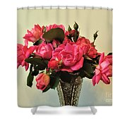 Pink Roses Bouquet 2 Shower Curtain