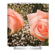 Pink Roses Fine Art Photography Print Shower Curtain