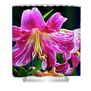 Pink Rules - Impasto Shower Curtain