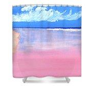 Pink Sand In Harbor Island - Bahamas Shower Curtain