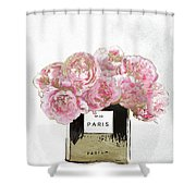 Pink Scented Shower Curtain