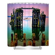 Pink Skies In Port Townsend Shower Curtain