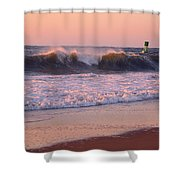 Pink Sky Dawn Shower Curtain