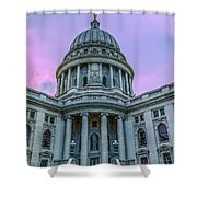 Pink Sky On The Square Shower Curtain
