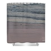 Pink Sky Reflections In The Sand Shower Curtain