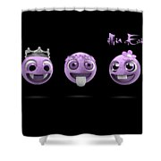 Pink Smileys Shower Curtain
