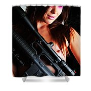 Pink Sniper Shower Curtain