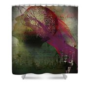 Pink Song Shower Curtain by Richard Ricci