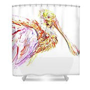 Pink Spoonbill Shower Curtain