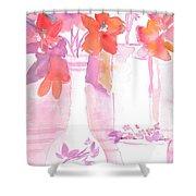 Pink Still Life Shower Curtain