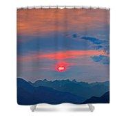 Pink Sun Shower Curtain