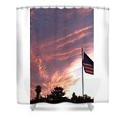 Pink Sun Rise Shower Curtain
